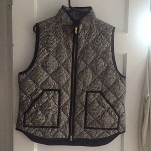 J Crew Black and White Vest